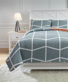 Ashley Gage Gray Full Coverlet ... Available Online in Dallas Fort Worth Texas
