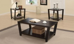 Lexa Cappuccino 3pc Coffee Table Set Available Online in Dallas Fort Worth Texas