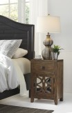 Ashley Charlowe Brown Night Stand Available Online in Dallas Fort Worth Texas