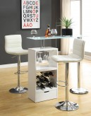 Coaster Dia Revloing White Bar Table Available Online in Dallas Fort Worth Texas