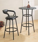 Coaster Dixie Black Round Bar Table Available Online in Dallas Fort Worth Texas