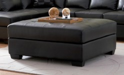 Darie Black Oversized Ottoman Available Online in Dallas Fort Worth Texas
