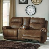 Austere Reclining Loveseat with Console Available Online in Dallas Fort Worth Texas