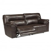 Ashley Barrettsville Durablend Chocolate Reclining Sofa Available Online in Dallas Fort Worth Texas