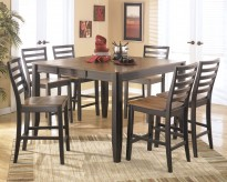 Ashley Alonzo 7pc Brown Counter Height Dining Set Available Online in Dallas Fort Worth Texas