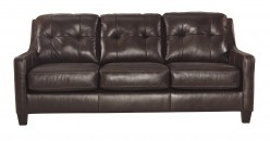 Ashley O'Kean Mahogany Sofa Available Online in Dallas Fort Worth Texas