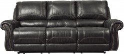 Ashley Milhaven Black Reclining Power Sofa Available Online in Dallas Fort Worth Texas