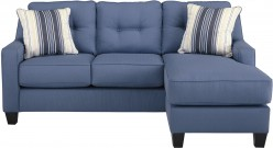 Ashley Aldie Nuvella Blue Sofa Chaise Available Online in Dallas Fort Worth Texas