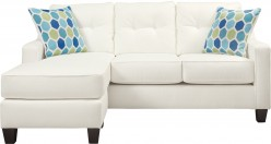 Aldie Nuvella White Sofa Chaise Available Online in Dallas Fort Worth Texas