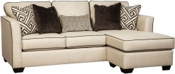Ashley Carlinworth Linen Sofa Chaise Available Online in Dallas Fort Worth Texas