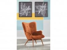 Ashley Pelsor Orange Accent Chair Available Online in Dallas Fort Worth Texas