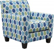 Ashley Ayanna Nuvella Turquoise Accent Chair Available Online in Dallas Fort Worth Texas