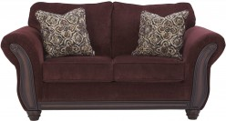 Ashley Chesterbrook Burgundy Loveseat Available Online in Dallas Fort Worth Texas