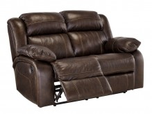 Ashley Branton Antique Reclining Loveseat Available Online in Dallas Fort Worth Texas