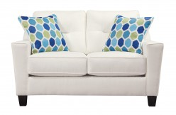 Ashley Forsan Nuvella White Loveseat Available Online in Dallas Fort Worth Texas