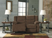Tulen Chocolate Reclining Loveseat Available Online in Dallas Fort Worth Texas