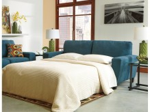 Ashley Sagen Teal Queen Sleeper Sofa Available Online in Dallas Fort Worth Texas