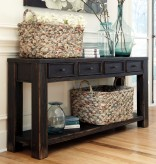 Ashley Gavelston Black Sofa Table Available Online in Dallas Fort Worth Texas