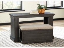Ashley Sharlowe Sofa Table With Ottoman Available Online in Dallas Fort Worth Texas