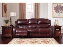 Ashley Gilmanton Burgundy Power Recliner Sofa Available Online in Dallas Fort Worth Texas
