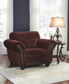 Ashley Chesterbrook Burgundy Chair Available Online in Dallas Fort Worth Texas
