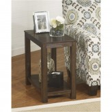 Ashley Grinlyn Rustic Brown Chair Side End Table Available Online in Dallas Fort Worth Texas