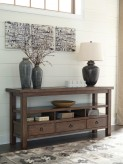 Ashley Campfield Brown Console Table Available Online in Dallas Fort Worth Texas