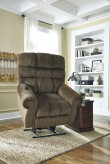 Ashley Ernestine Truffle Power Lift Recliner Available Online in Dallas Fort Worth Texas