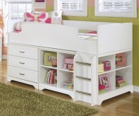 Ashley Lulu Bookcase Loft Bed Available Online in Dallas Fort Worth Texas