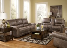 Ashley Oberson 2pc Reclining Sofa and Loveseat Set Available Online in Dallas Fort Worth Texas