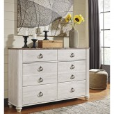 Willowton White Dresser Available Online in Dallas Fort Worth Texas