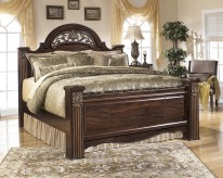 Ashley Gabriela King Poster Bed Available Online in Dallas Fort Worth Texas