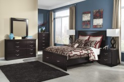 Zanbury 5pc Queen Panel Storage Bedroom Group Available Online in Dallas Fort Worth Texas