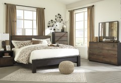 Ashley Windlore 5pc King Panel Bedroom Group Available Online in Dallas Fort Worth Texas