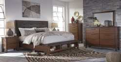 Ashley Ralene 5pc Cal King Panel Storage Bedroom Group Available Online in Dallas Fort Worth Texas