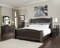 Ashley Vachel 5pc King Poster Bedroom Group Available Online in Dallas Fort Worth Texas