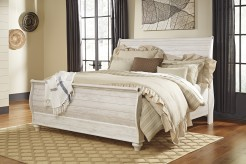 Willowton King Sleigh Bed Available Online in Dallas Fort Worth Texas