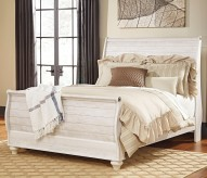 Ashley Willowton Queen Sleigh Bed Available Online in Dallas Fort Worth Texas