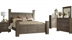Ashley Juararo 5pc King Poster Bedroom Group Available Online in Dallas Fort Worth Texas