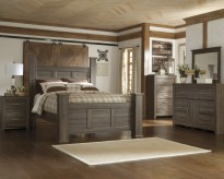 Ashley Juararo 5pc Queen Poster Bedroom Group Available Online in Dallas Fort Worth Texas