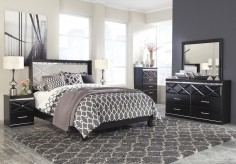 Ashley Fancee 5pc Black King Panel Bedroom Group Available Online in Dallas Fort Worth Texas