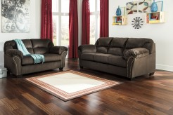 Ashley Kinlock Chocolate 2pc Sofa & Loveseat Set Available Online in Dallas Fort Worth Texas