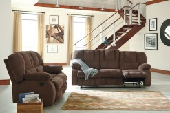 Ashley Roan 2pc Cocoa Reclining Sofa & Loveseat Set Available Online in Dallas Fort Worth Texas