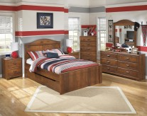 Barchan 5pc Full Panel With Trundle Bedroom Group Available Online in Dallas Fort Worth Texas