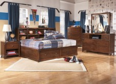 Delburne 5pc Full Bookcase Storage Bedroom Group Available Online in Dallas Fort Worth Texas