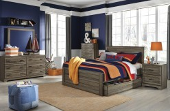 Ashley Javarin 5pc Full Panel Bed with Trundle Bedroom Group Available Online in Dallas Fort Worth Texas