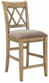 Ashley Mestler Antique White Counter Height Chair Available Online in Dallas Fort Worth Texas