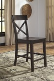 Ashley Gerlane Dark Brown Counter Height Chair Available Online in Dallas Fort Worth Texas