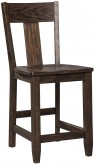 Ashley Trudell Dark Brown Counter Height Bar Stool Available Online in Dallas Fort Worth Texas
