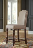 Ashley Baxenburg Upholstered Counter Height Barstool Available Online in Dallas Fort Worth Texas